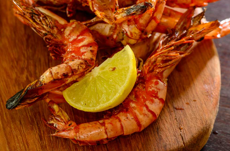 Fresh, charcoal-grilled tiger prawns on Ibo Island Mobile Dhow Safari