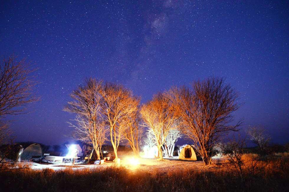 Afrika Ecco campsite at Makgadikgadi Pans