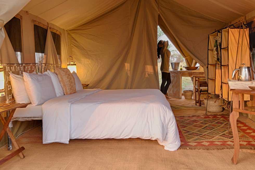 Serian Serengeti Mobile tent interiors