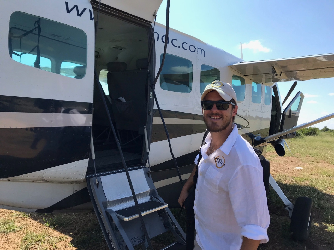 Marnus about to board a scenic flight over Lake Kariba