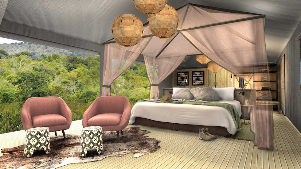 Magashi Camp tented bedroom concept