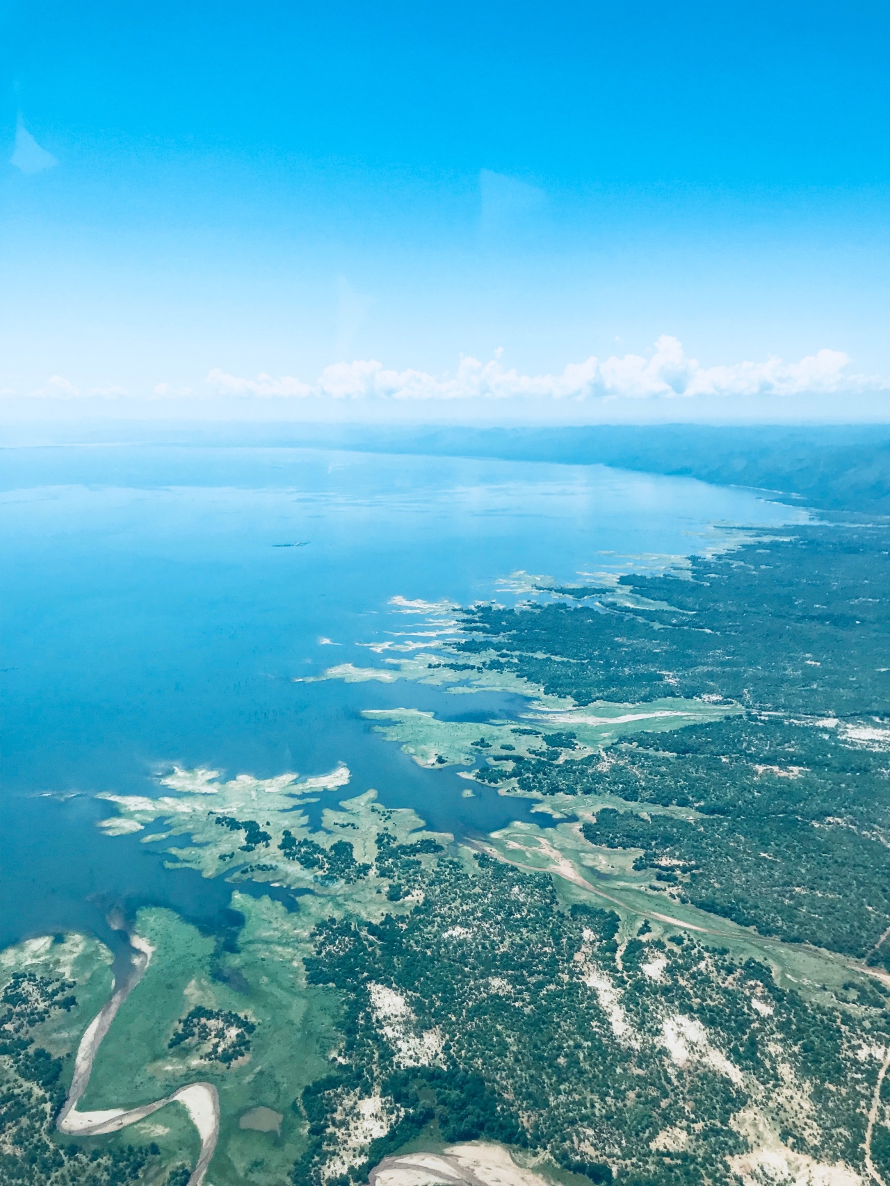 Lake Kariba from the air