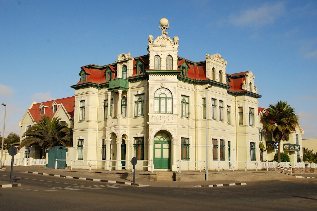Colonial German buildings in Swakopmund