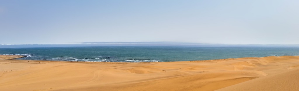 Skeleton Coast where the desert meets the Atlantic Ocean